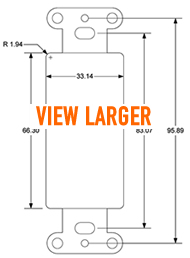 Pro-Wire Blank Plate Dimensions - Thumbnail