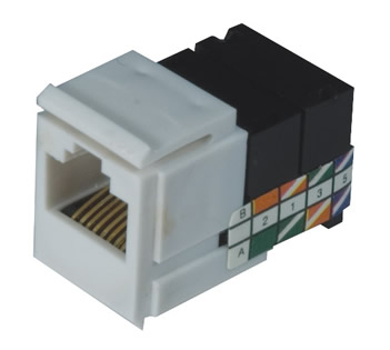 Pro-Wire Modular Connectors, Category 5 Jack, RJ-45 - X-RJ45