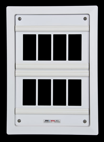 Pro-Wire In-Wall Media Panel - MP-8 - Empty