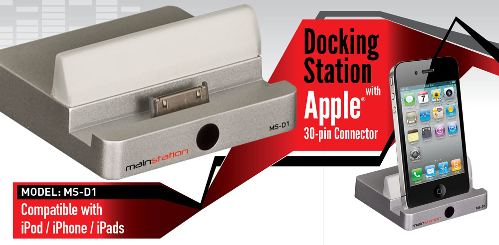 Mainstation In Wall Audio Docking Station - MS-D1 - Graphic