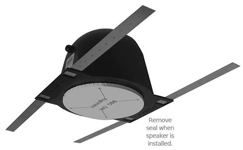 Pre Construction Speaker Vapor Dome Rough In Kit Vpd 6 Oem