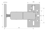 Double Swivel Speaker Mounting Bracket - SE-DBLSVL mk II - Detail Thumbnail